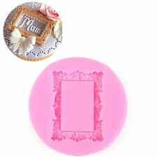 Rectangle Mirror Frame Silicone Fondant Mould Cake Decor Chocolate Baking Molds