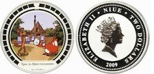 2009 Niue $2 Russian Cartoon Prostokvashino 1 OZ Silver Taurus/Dog