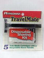 Personna TravelMate Trac II Razor Handle w/ 5 Refill Blades