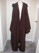 BROWN  HOODED JEDI ROBE/CLOAK-STAR WARS-GOTHIC-STEAM PUNK SILTH MEDIEVAL