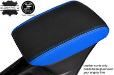 BLACK & BLUE LEATHER ARMREST COVER FITS VAUXHALL OPEL ASTRA K MK7 2016+