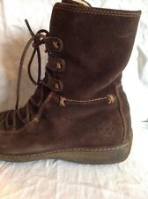 Timberland Brown Suede Ankle Boots Size 8w ( Uk 6)