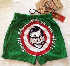 "Christmas Story Men's Sleep Shorts Boxers Underwear Small 28-30"" Ralphie GiftBag"
