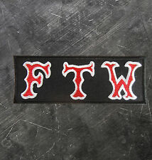 """HELLS ANGELS Support 81 Patch  Aufnäher """"FTW"""" FUCK THE WORLD P12"""