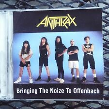 "ANTHRAX "" BRINGING THE NOIZE TO OFFENBACH"" PRO SOURCED SILVER DISC CD-OOP/RARE"
