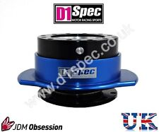 D1 SPEC UNIVERSAL RACING PADDLE STEERING WHEEL QUICK-RELEASE BLACK/BLUE DRIFT