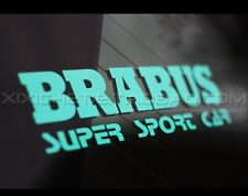 Benz AMG BRABUS SUPER SPORT Racing Car Sticker Vinyl Decal Tiffany Blue