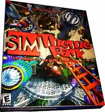 Sim Theme Park for PC Large Retail Box Mint in Sealed Box MISB! New!!