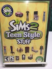 Sims 2: Teen Style Stuff PCCD! COMPLETE W/MANUAL IN ORIGINAL CASE! SIMS 2 ADD-ON