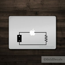 Circuit - Mac Apple Logo Laptop Vinyl Decal Sticker Macbook Electric Engineer
