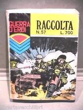 RACCOLTA GUERRA D EROI N 57 Agosto 1980 Fumetti Narrativa per Ragazzi Racconto