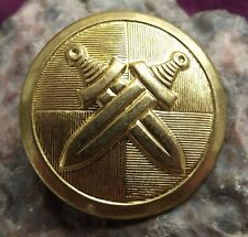 Czechoslovakia Army Military Metal Crossed Swords Uniform Eye Buttons 2.7cm