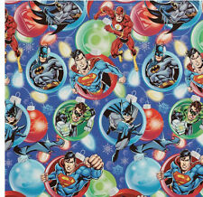 DC JUSTICE LEAGUE GIFT WRAP WRAPPING PAPER ROLL CHRISTMAS HOLIDAY 60 SQ.FEET