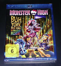 MONSTER HIGH BUH YORK, BUH YORK DAS MONSTERKRASSE MUSICAL BLU RAY NEU & OVP
