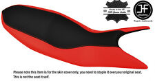 RED & BLACK CUSTOM FITS DUCATI HYPERMOTARD 821 939 13-17 LEATHER SEAT COVER
