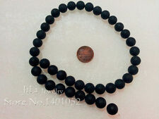 Natural Onyx Black Agate Frosted 10 mm round beads Gem DIY Jewelry Making