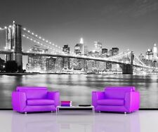 BROOKLYN BRIDGE MANHATTAN SKYSCRAPPERS NYC Photo Wallpaper Wall Mural 335x236cm
