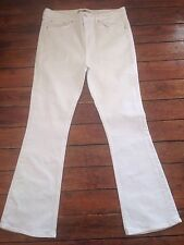 Topshop Moto Tally  Flared Jeans White Flares Size 16 W34 L30 *179