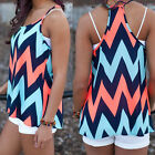 Summer Womens Ladies Striped Vest Tops Tank Casual Strap Blouse Sleeveless Shirt