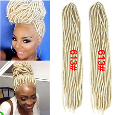 6 Packs 20'' Faux Locs Small Dreadlocks Twist Braid Crochet Synthetic Hair 613#