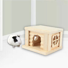 Wooden House Cage Habitat Exercise Toys for Hamster Mouse Hedgehog Guinea Pig