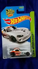Hot Wheels Dodge Viper SRT10 ACR White Diecast 2015 HW Workshop Rear Spoiler