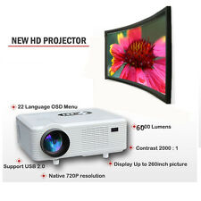 Mulimedia 6000lM 3D Smart Projector HD 1080p Short Throw Home Business HDMI OHY
