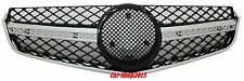 Front Grill Grille E63 AMG Style 10-13 For Mercedes C207 W207 Chrome-Black