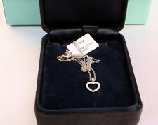 MAGNIFICENT BRAND NEW TIFFANY & CO PLATINUM DIAMOND HEART NECKLACE W BOXES