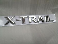 3D EMBLEM REAR BADGE CHROME LETTERS FOR NISSAN X-TRAIL XTRAIL ADHESIVE 3M 200mm