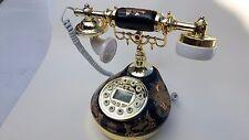Classical Ceramic Desk Telephone Vintage Button Dial Retro Antique Phone  #4