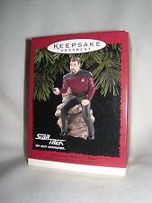 "Hallmark-Ornament- Star Trek "" Com. William T. Riker ""  Next Generation 1995"