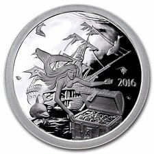 2016 SILVERBUG ISLAND MERMAID 1oz. Silver Round Mirror PROOF