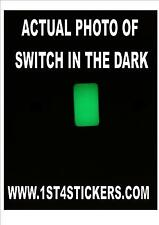 12 X GLOW IN THE DARK VINYL LIGHT SWITCH STICKERS PHOTO LUMINESCENT 23mm X !3mm