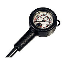 Scuba Dive Gauge Console BRASS SPG Tank Pressure w/ Thermometer PSI & BAR Metric