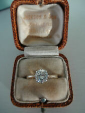 Vintage 1940's 18ct Yellow Gold & Plat Diamond Solitaire Engagement Ring 0.72ct