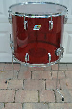 "1979/1980 LUDWIG 18"" CLASSIC FLOOR TOM IN RED VISTALITE for DRUM SET! LOT #C772"