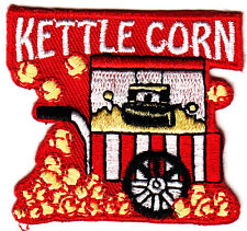"""""""KETTLE CORN"""" - Iron On Embroidered Patch /Food, Dessert, Snacks, Treats"""