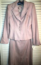 NWT KAY UNGER PINK SKIRT SUIT WEDDING/OCCASION  NEIMAN MARCUS SIZE 10