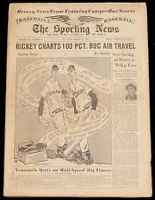 3-31-54 SPORTING NEWS DON NEWCOMBE AL KALINE MICKEY MANTLE BASEBALL