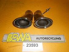 Auspuff / Chrom / Doppelrohre        Mercedes W203         2036081      Nr.23593
