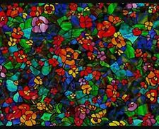 Sticky Back Plastic Stained Glass 2mtr x 45cm Fablon Window Self Adhesive 0431