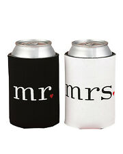 Mr. and Mrs. Can Cooler Foam Holder Wedding Gift Set Accessories Decoration