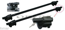 MITSUBISHI OUTLANDER CROSS BARS CROSSBARS ROOF RACKS STEEL WITH LOCK SYSTEM
