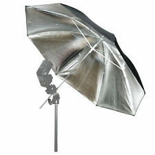 "33"" Silver/Black Reflective Umbrella for Photo Studio Flash Speedlite 83cm New"