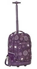 """Rockland 19"""" Rolling Backpack R02-PURPLEPEARL BACKPACK 13"""" x 10"""" x 19"""" NEW"""