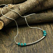 Sterling Silver 925 Necklace Turquoise Handmade Artisan Jewelry Craft Y626