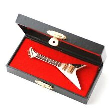 DOLLS HOUSE miniatura Jackson GUITAR. FLYING V. Sala Musica 1.12 scala, Mannaia