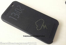 New Black DOT View Smart Interactive Flip Case,Cover for HTC One E8 Dual Sim