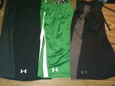 MENS (L-XL) LOT OF 3- UNDER ARMOUR- ATHLETIC SHORTS- NICE LOT